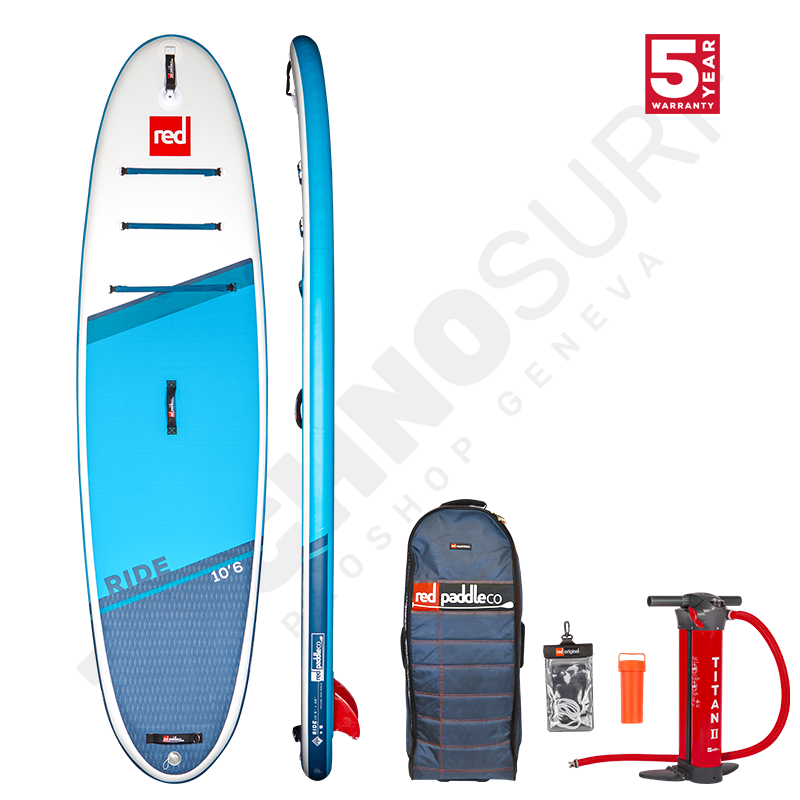Pack Stand Up Paddle Gonflable RED PADDLE Ride MSL 10'6'' + Pagaie + Leash - 2021