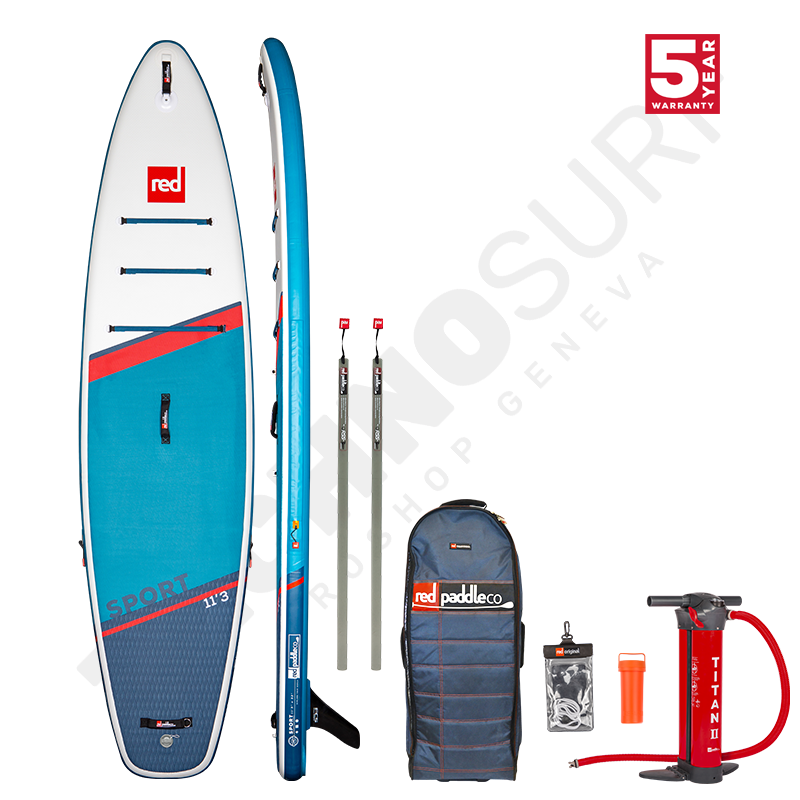 Pack Stand Up Paddle Gonflable RED PADDLE Sport MSL 11'3'' + Pagaie + Leash - 2021
