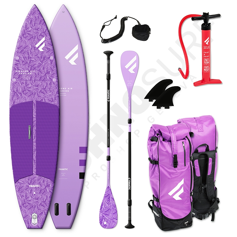 Pack Stand Up Paddle Gonflable FANATIC Diamond Air Touring Pocket 11'6 - 2021