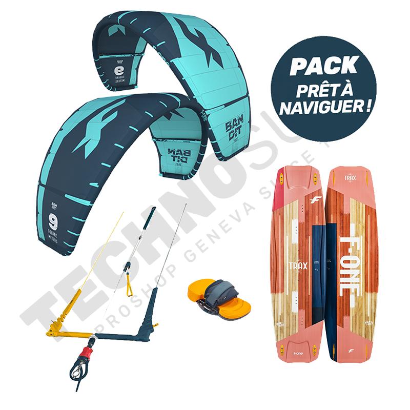 Pack Kitesurf F-one Bandit 10m² / Trax HRD Lite Papaya - 2021
