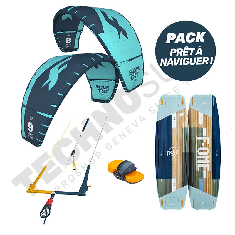 Pack Kitesurf F-ONE Bandit 12m²  / Trax HRD Lite - 2021