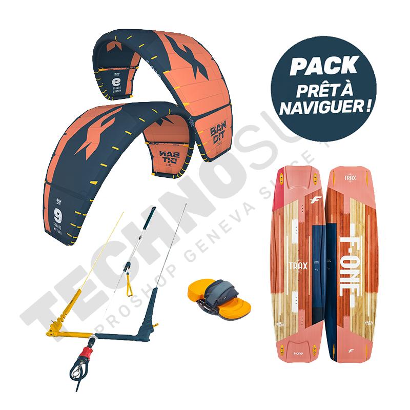 Pack Kitesurf F-one Bandit 9m²  / Trax HRD Lite Papaya - 2021