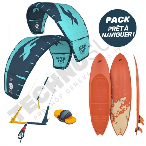 Pack Kitesurf F-one Bandit 10m² / Mitu Pro Flex - 2021