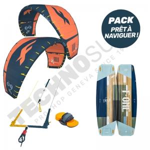 Pack Kitesurf F-ONE Bandit S2 8m² / Trax HRD Lite Tech - 2021