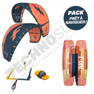 Pack Kitesurf F-ONE Bandit S2 8m² / Trax HRD Lite Tech Papaya - 2021