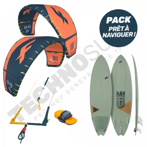 Pack Kitesurf F-ONE Bandit S2 8m² / Mitu Pro Bamboo - 2021