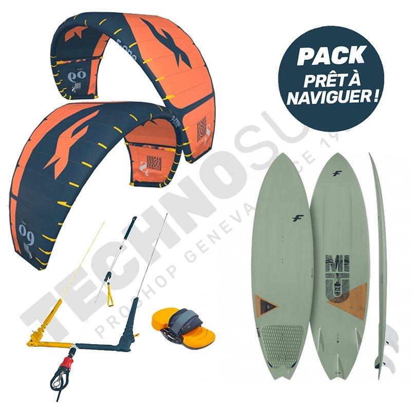 Pack Kitesurf F-ONE Bandit S2 10m² / Mitu Pro Bamboo - 2021