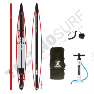 Pack Stand Up Paddle Inflatable SURFPISTOLS Performance Race Carbone 18' - 2021