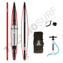 Pack Stand Up Paddle Gonflable SURFPISTOLS Performance Race Carbone 18' - 2021