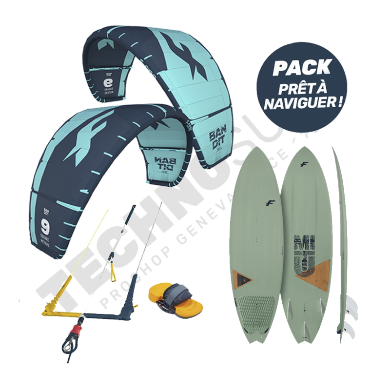 Pack Kitesurf F-one Bandit 10m² / Mitu Pro Bamboo - 2021