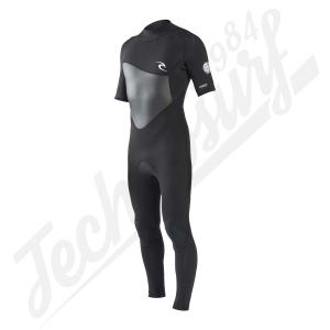 RIPCURL - Omega 3/2 Back Zip Short Sleeve Wetsuit