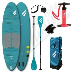 Pack Stand Up Paddle Inflatable FANATIC Fly Air Pocket 10'4'' + Paddle + leash- 2020