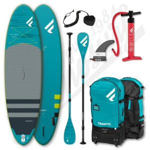 Pack Stand Up Paddle Gonflable FANATIC Fly Air Premium 9'8'' + Pagaie + leash - 2020