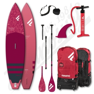 Pack Stand Up Paddle Inflatable FANATIC Diamond Air Touring 11'6'' + Paddle + leash - 2021