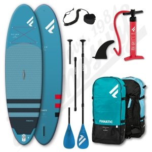 Pack Stand Up Paddle Gonflable FANATIC Fly Air 9'8'' + Pagaie + leash - 2020