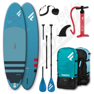Pack Stand Up Paddle Gonflable FANATIC Fly Air 10'4'' + Pagaie + leash - 2021