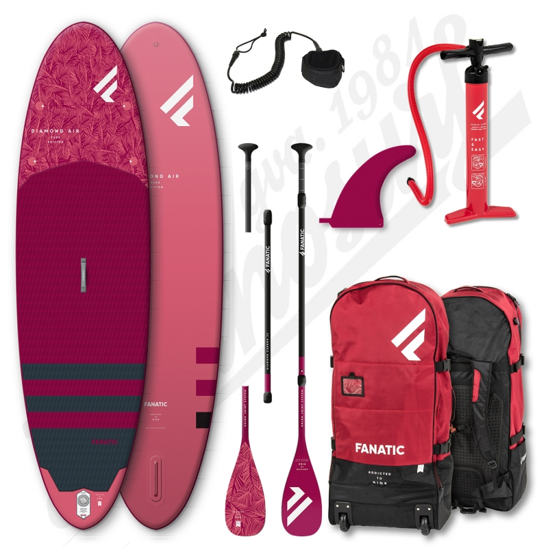 PACK Stand Up Paddle Gonflable FANATIC Diamond Air 10'4'' + Pagaie + leash - 2021