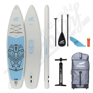 Pack Stand Up Paddle Inflatable INDIANA Family Grey 11'6 - 2021