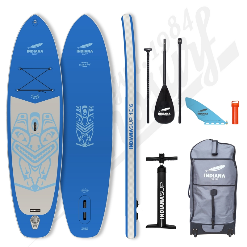 Pack Stand Up Paddle Gonflable INDIANA Family Bleu 10'6 - 2021